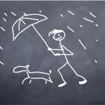 Jogger im Regen